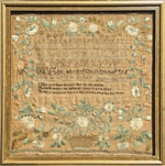 New Hamphire antique sampler from Huber