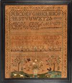 MARY ALEXANDER antique needlework sampler from Huber