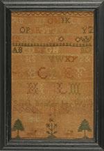 Antique sampler by Bowler from Huber
