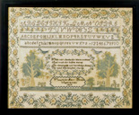 Antique sampler by Mary Brown dated 1817 from Huber