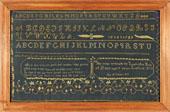Huber - Strafford, VT needlework sampler by Buel