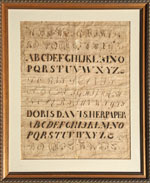 Penmanship Paper dated 1798 from Huber