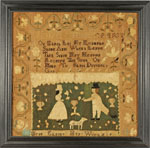 Huber - Antique sampler by Elking of Marblehead, MA
