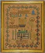 Antique sampler by Ennman from Huber