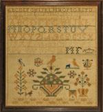Huber antique sampler by Finkbiner