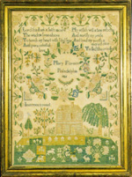antique sampler needlework by Mary Florence