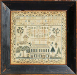 Euphemia Gray sampler Pennsylvania (probably) dated 1840.from Huber
