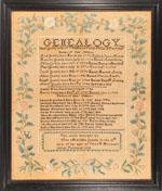 Ann Greely sampler Portland, ME 1818 from Huber
