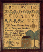 Fanny Keever Hummelstown, PA antique sampler from Huber