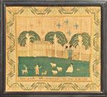 Philadelphia needlework sampler from Huber