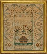 Boston area sampler c.1792 from Huber