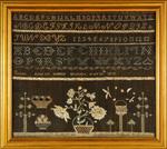 Eunice Ladd Sanbornton, Belknap, NH, c. 1825 antique needlework sampler from Hube