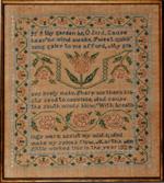 Martha Little antique sampler New England 1824 from Huber