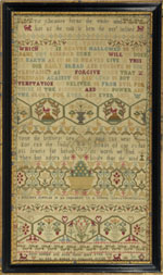 Huber - Sampler English dated 1767