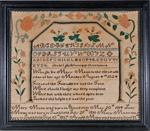 Mary Mann antique needlework sampler from Stephen & Carol Huber