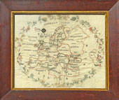 Needlework Map of Europe from Huber