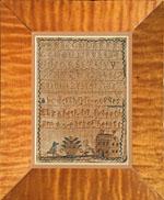 Miniature needlework sampler from Huber