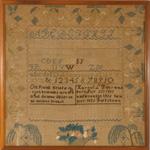 Goffstown, NH needlework sampler from Huber