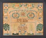 Sampler by Mary Ann Post, Glastonbury, CT from Huber