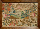 Sampler Easton, PA stitched at Mary Ralston's School circa 1830 from Huber