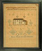 Huber needlework sampler by Harriet Read
