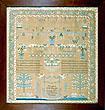 Louiza Sewall 1836 antique needlework sampler Philadelphia from Huber