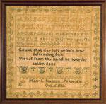 Mary L. Stanton, Pokeepsie, NY 1832 sampler from Huber