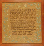 Huber - Antique sampler by Wedgwood of Wolfboro, NH