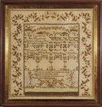 Antique sampler by Charlott White from Huber