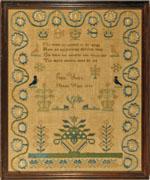 Huber antique sampler by Yost